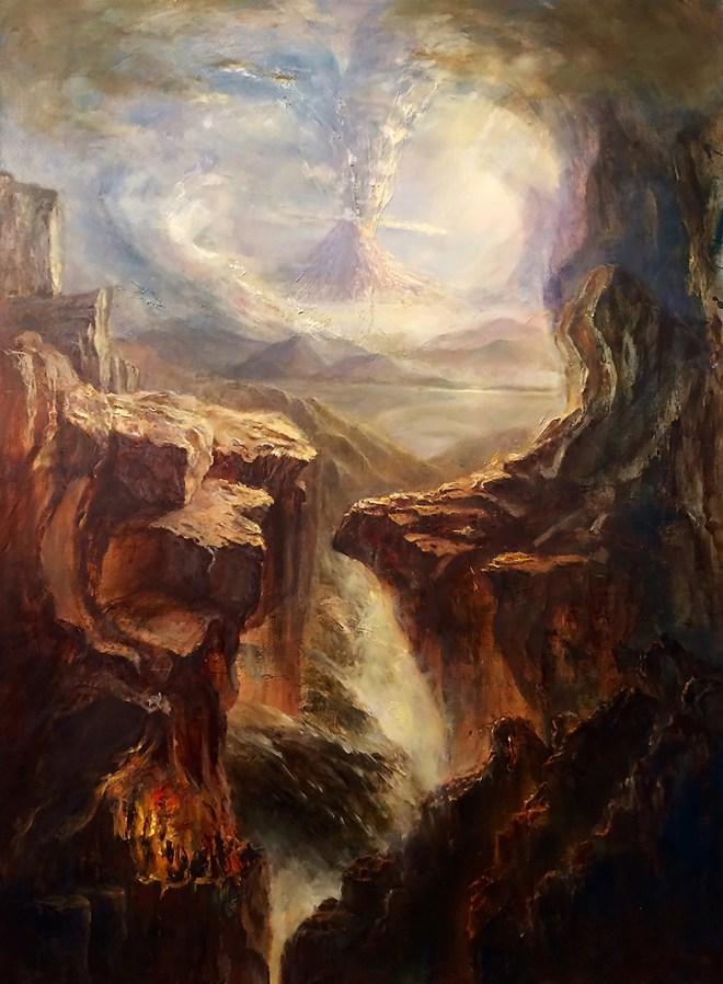 Title Grand Sonata Medium oil on canvas Size 36 inch x 48inch