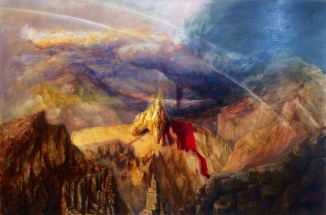 Title Resurrection valley Medium oil on canvas Size 48inch* 72inch