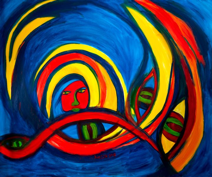 Title Desperately entangled Medium oil on canvas Size 60x72