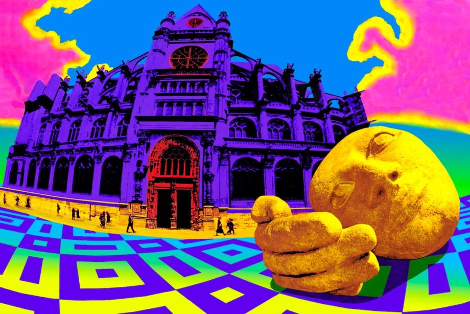 Title Brancusi Head Medium Photo based art Size 30x45