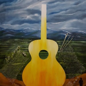 Title My Old Guitar Series#8 Medium Oil on Panel Size 3'X4'