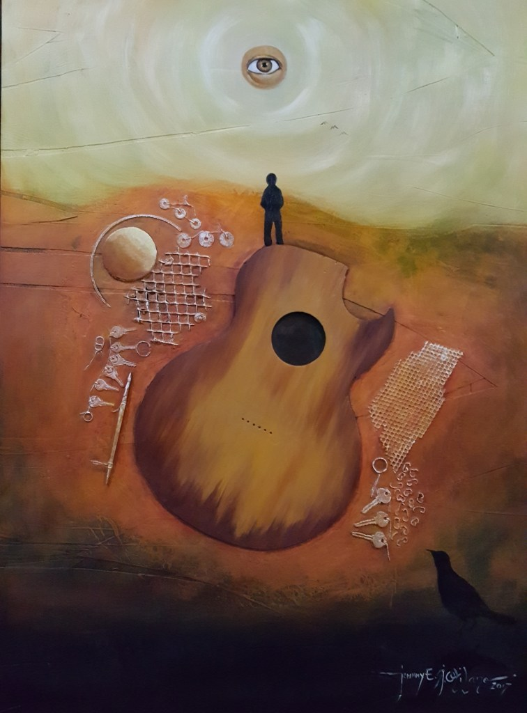 Title My Old Guitar Series#6 Medium Oil on Panel Size 3'X4'