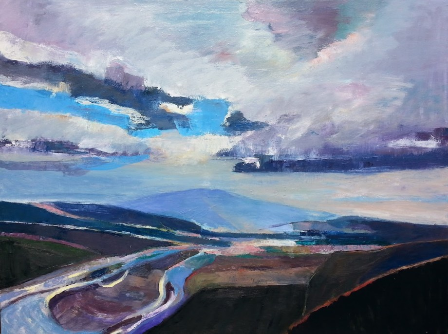 """Title Death Valley View Medium Oil on canvas Size 30' x 40"""""""