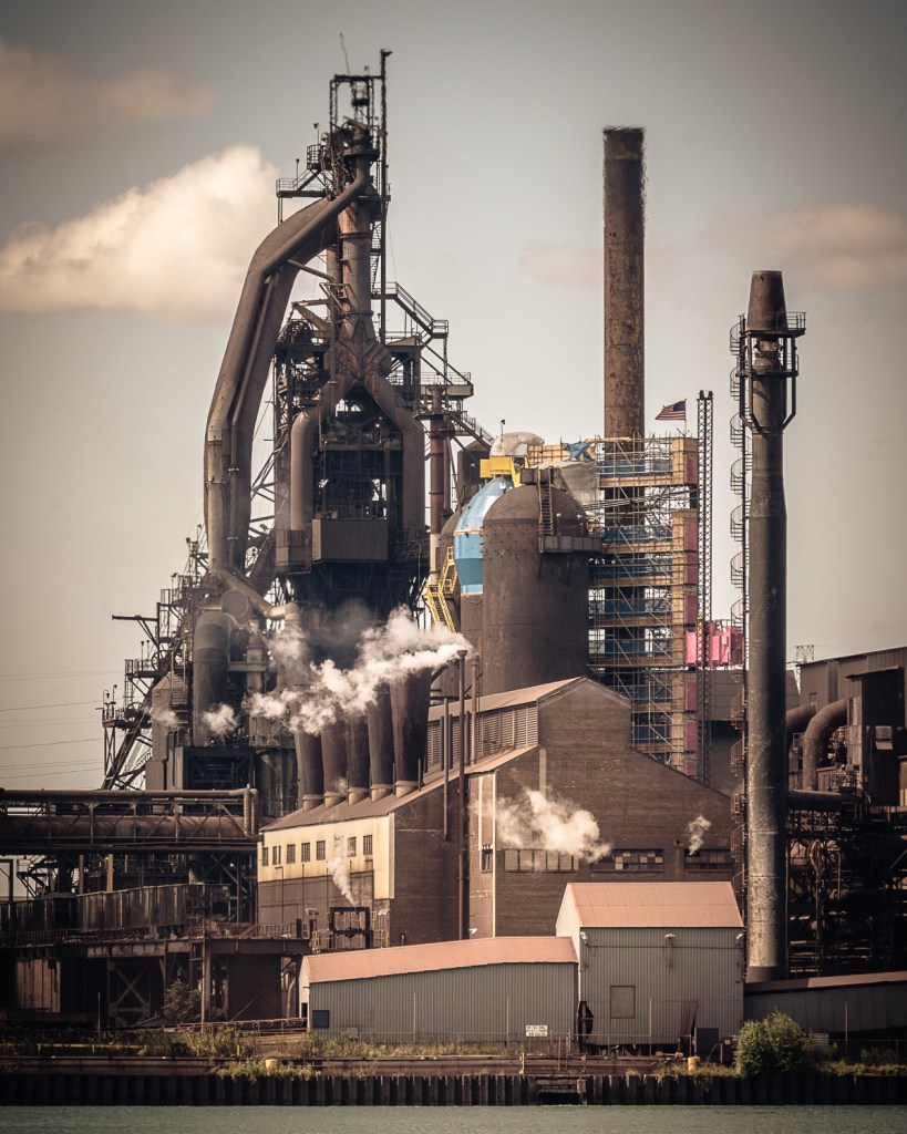 Title Blast Furnace 'C' Medium Photograph on Aluminum Size 20x24