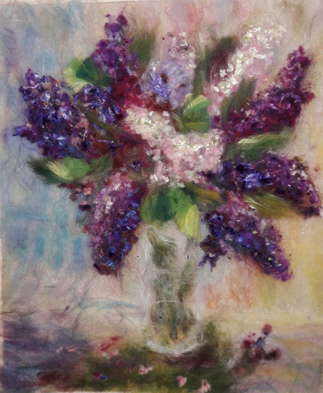 Title The Smell of Spring Medium Wool Art Size 16x20