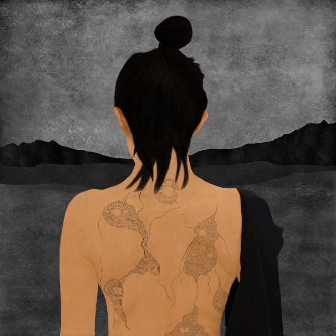 Title Infinity Girl Medium acrylic, giclée on canvas Size 80 x 80 cm