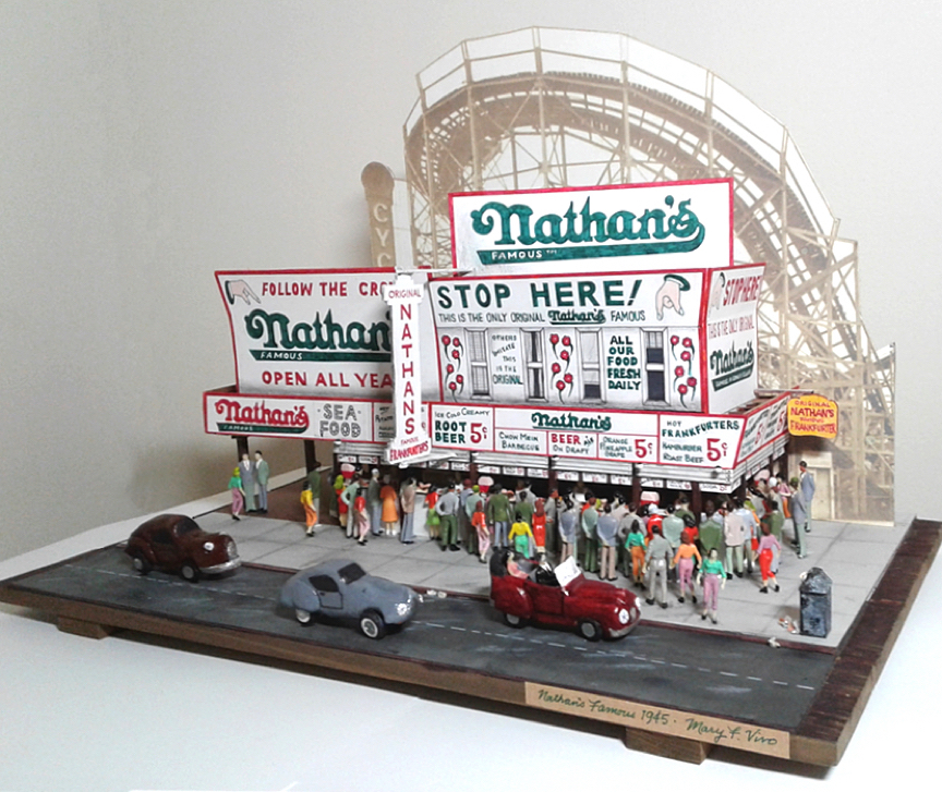 """Title Nathan's Famous 1945 Medium Mixed Size 13"""" x 17"""" x 12"""""""