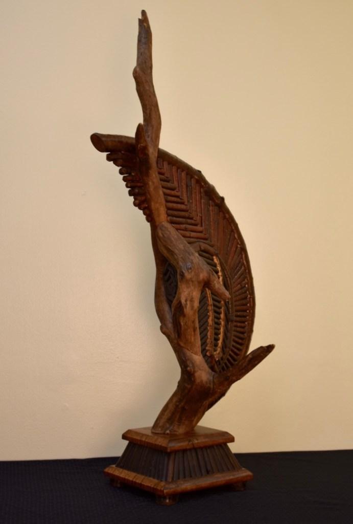 Title Keeper Medium Sculpture; Wood/Natural Materials Size 40 x 12 x 18