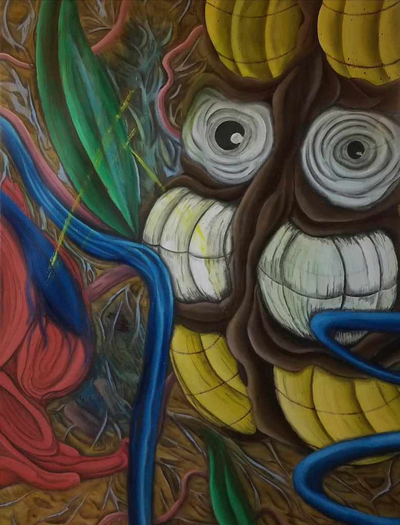 "Title When I was a Creature Medium oil Size 30"" x 40"""