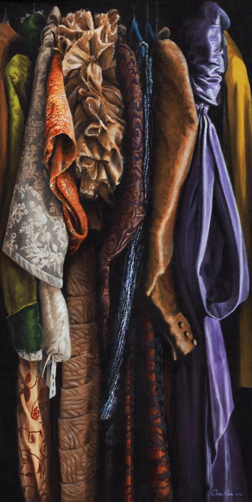 "Title Costumes of William Schmuck 02 Medium acrylic Size 24""x48"""