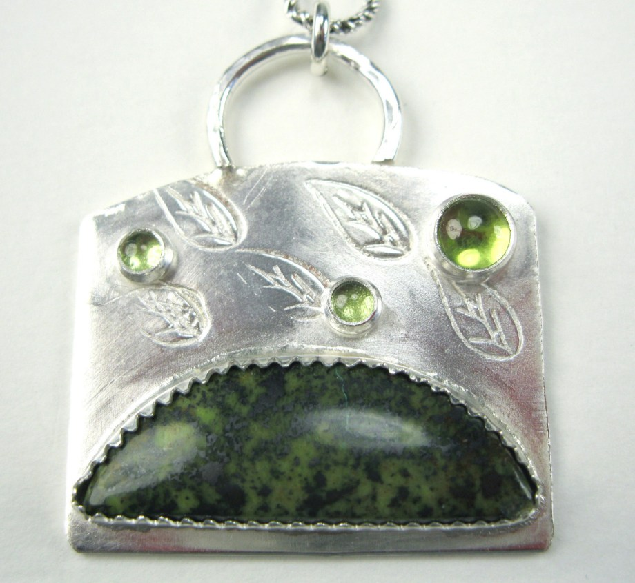 Title Leaves Reborn Medium Silversmithed Jewelry Size 3x4
