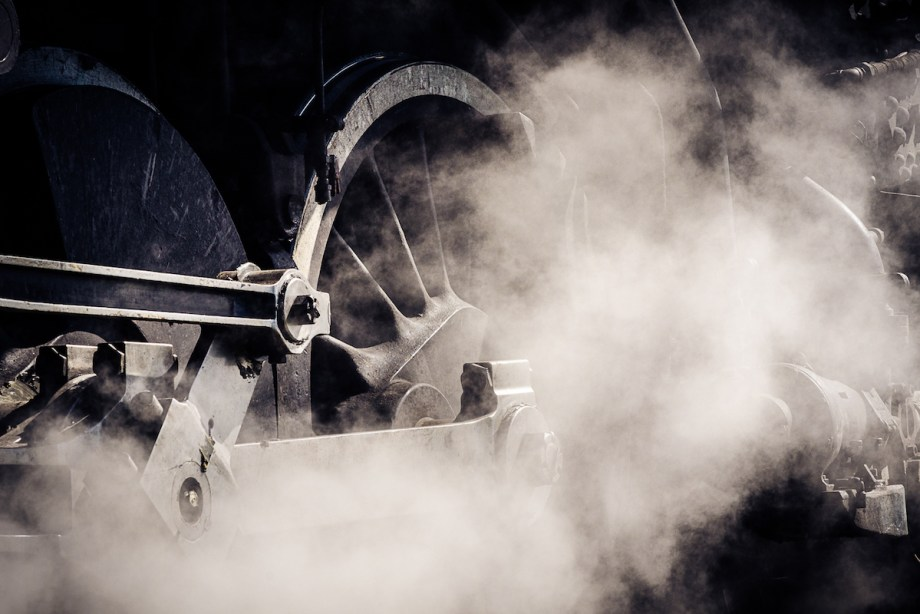 Title Iron, Steel, and Steam No. 7 Medium Photograph on Aluminum Size 16x24