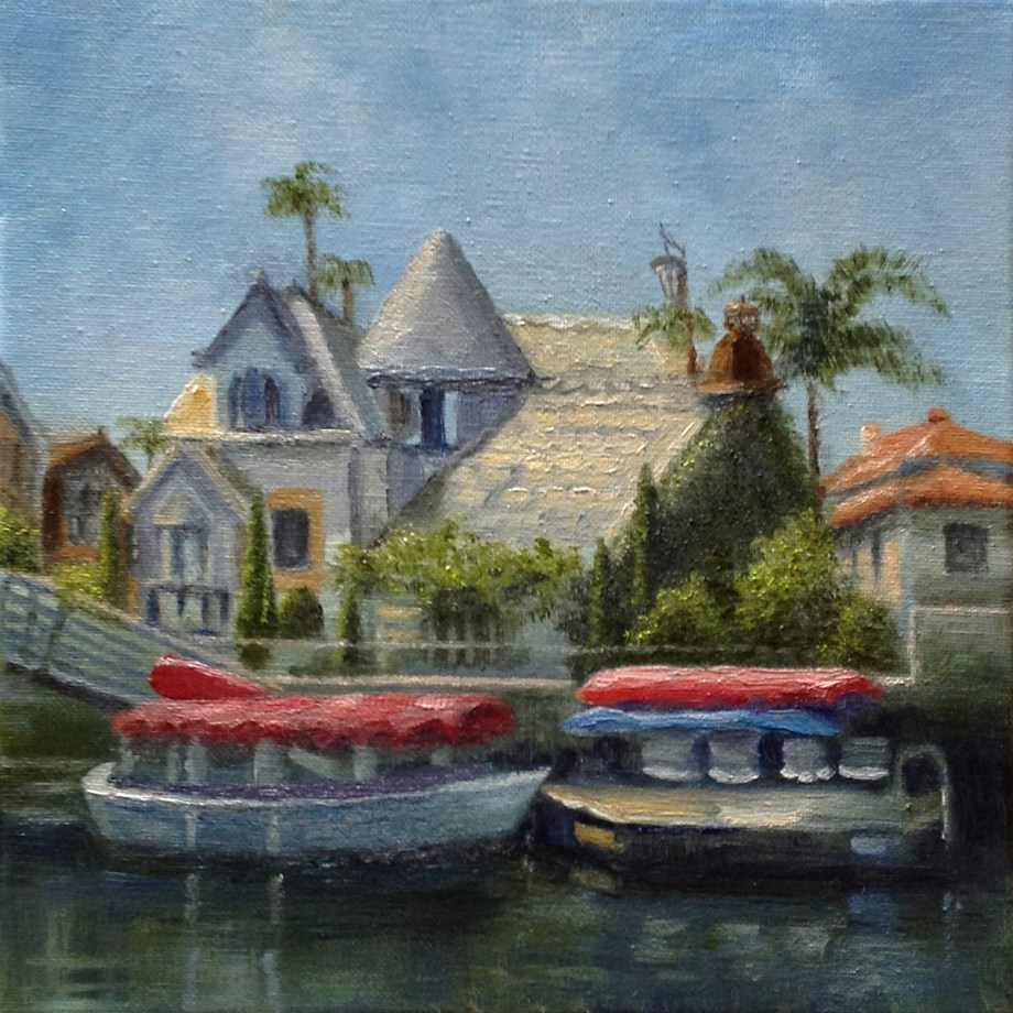 "Title Naples Canal of Long Beach Medium Oil Size 10""x10"""