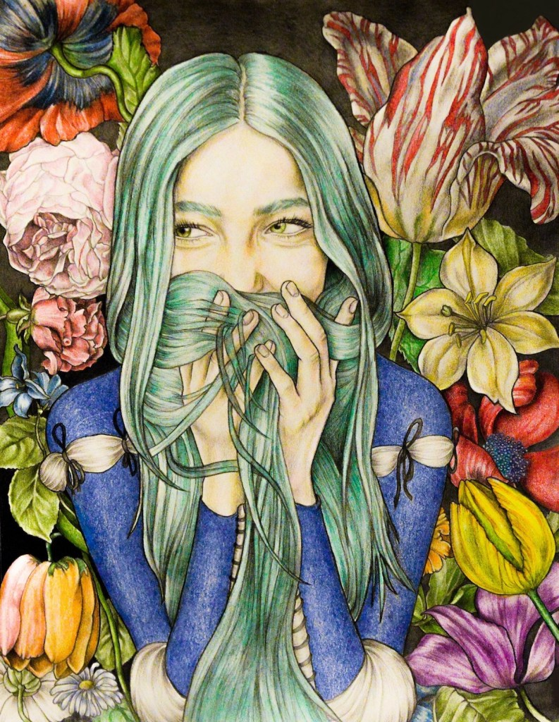 Title Spring Medium Graphite, color pencil, aquarelle on paper Size 420 x 594 mm