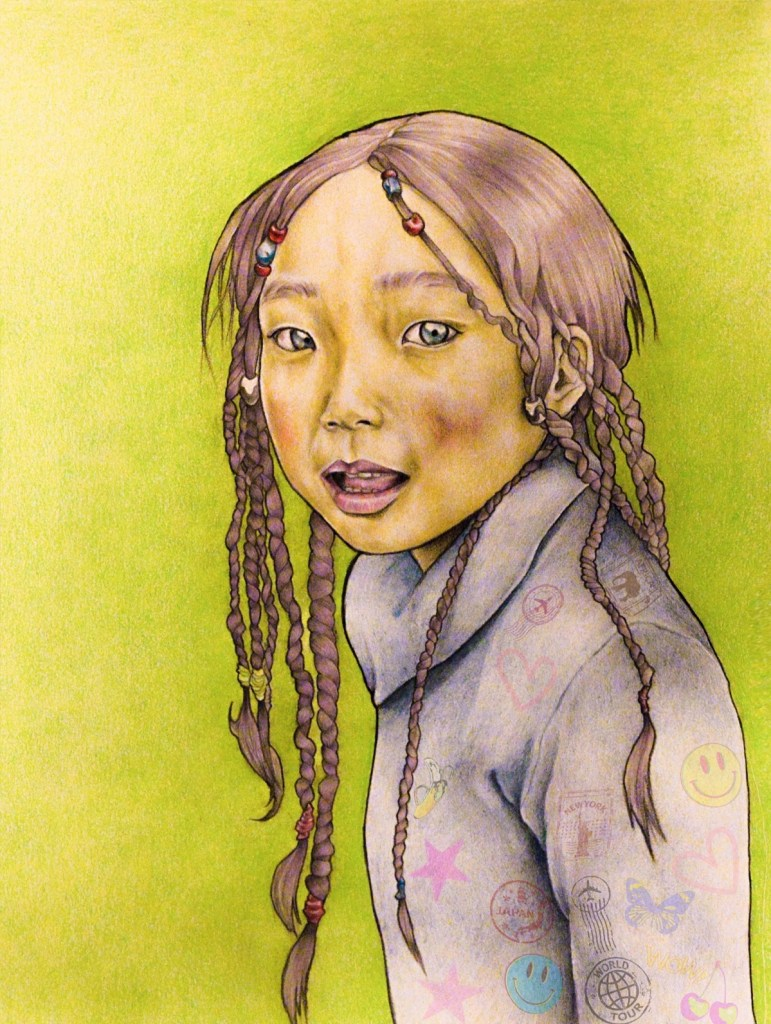 Title Girl's portrait Medium Mixed media Size 420 x 595 mm