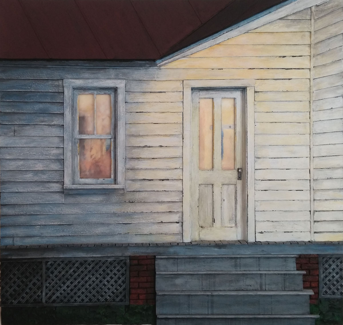 Title Back Porch Door Medium mixed media Size 25x24x2.5