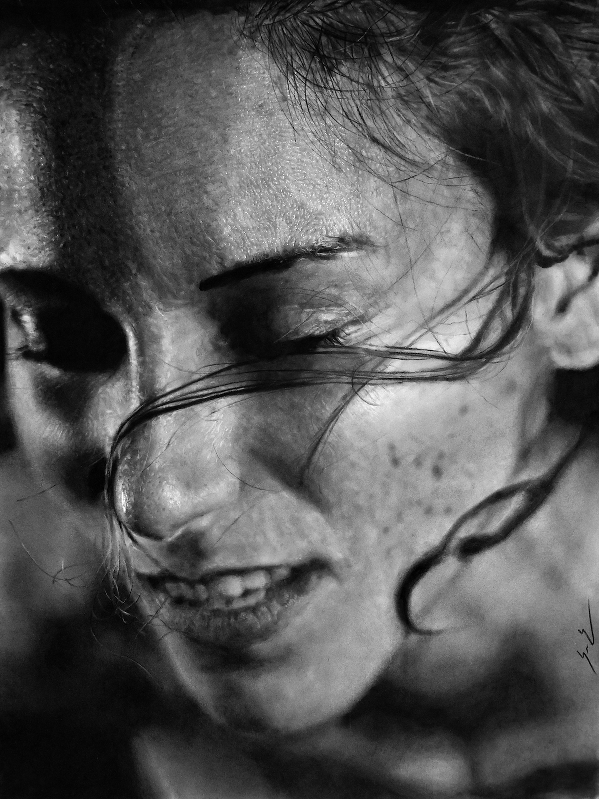 Title Stasis II Medium Charcoal, Graphite, and Acrylic Size 18x24""
