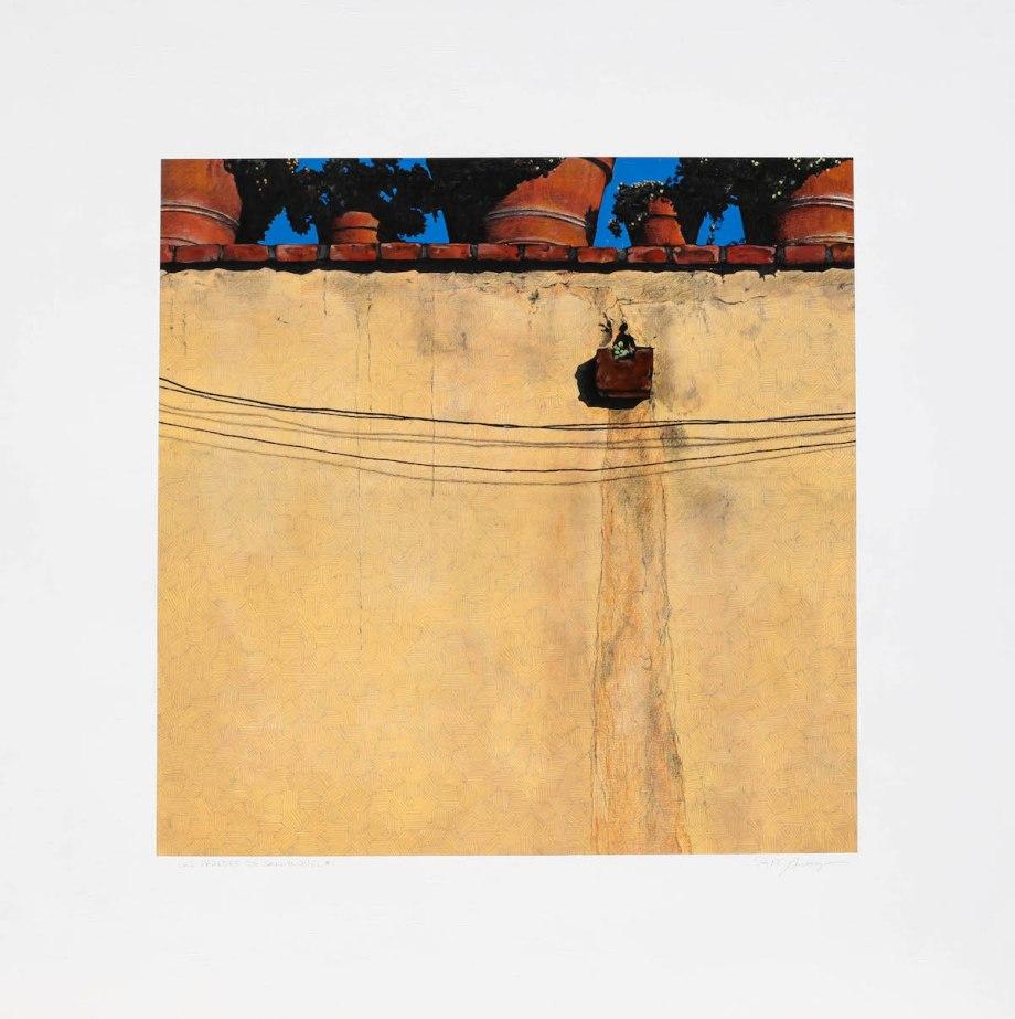 """Title Las Paredes de San Miguel #1 Medium acrylic and pencil Size 42""""x 42"""""""