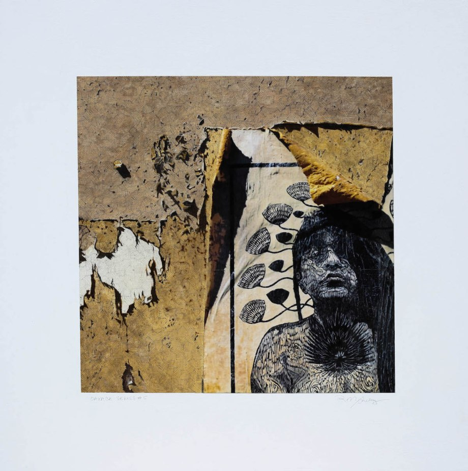 "Title Oaxaca Series #5 Medium acrylic, pencil, photography Size 30""x 30"""