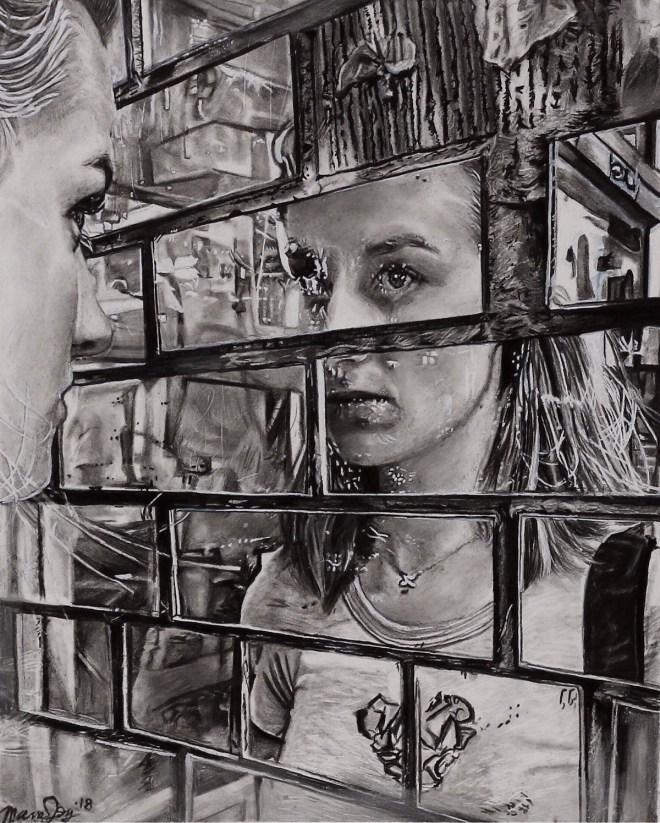 Title Inner Reflection Medium Graphite/ink Size 8 x 10
