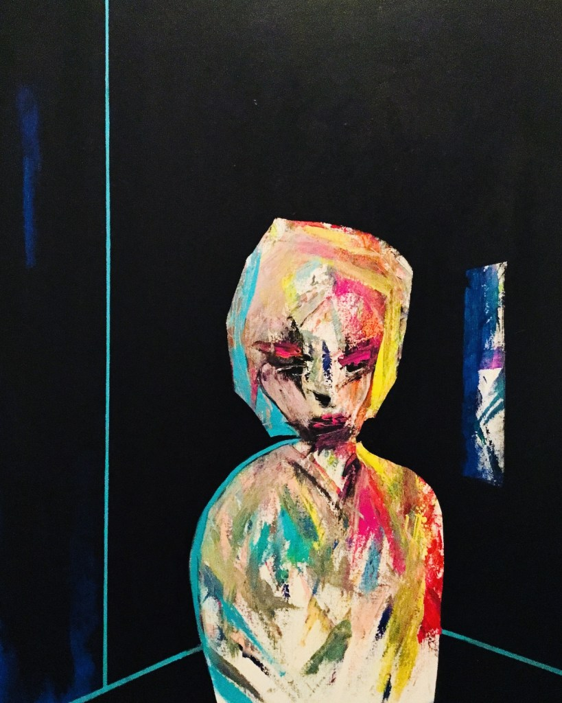"""Title She's Not There Medium Acrylic and Oil on Canvas Size 30"""" x 40"""""""