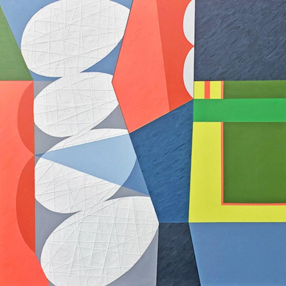 "Title Hey, Sugar Medium Mixed Media Collage on Wood Panel Size 36 x 36"""