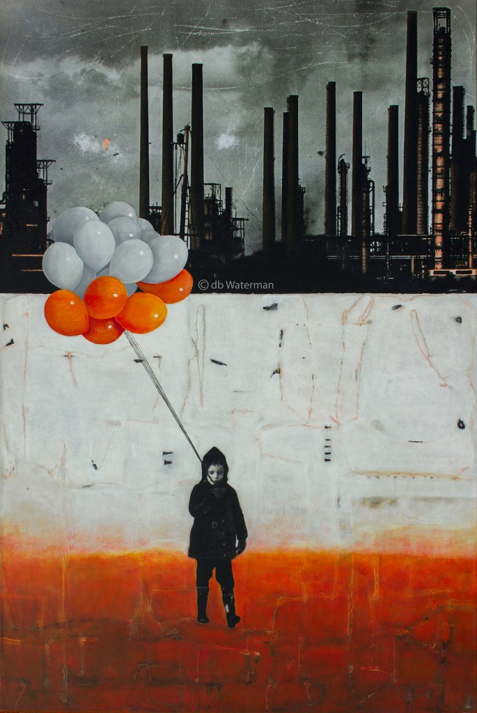 Title LIFT ME UP II Medium Painting, and collage on canvas Size 80 cm x 120 cm x 2 cm