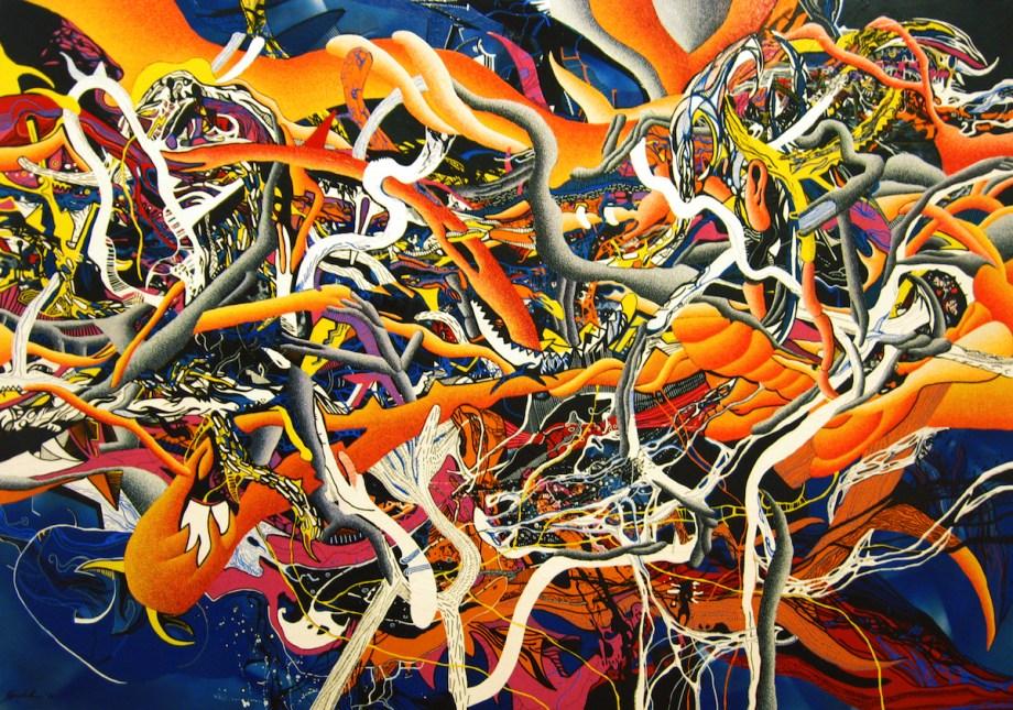 Title RK- W8 Medium Mixed Media on canvas Size 140x200 cm