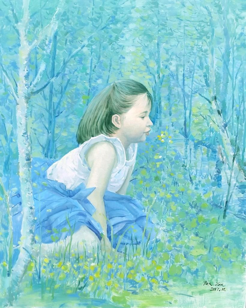 "Title Blue Dream Medium Oil on canvas Size 24""x30"""