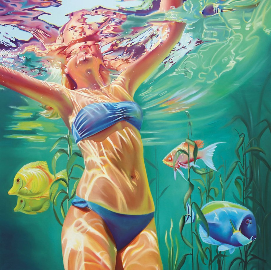 Title My home is the ocean Medium oil on canvas Size 100x100cm