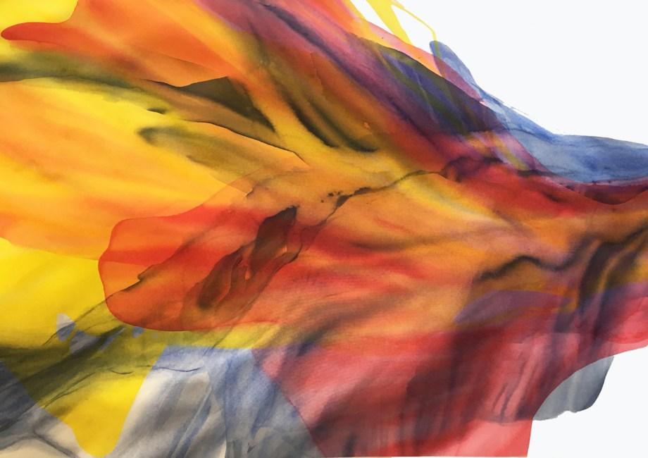 "Title ""Sunrise Interrupted"" Medium Acrylic on canvas Size 36"" x 54"""