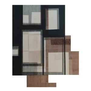 "Title Habitat II Medium Monoprint and collage Size 24"" x 15"""
