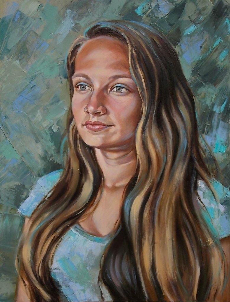 Title Patricia Medium Oil on Canvas Size 70 x 50 cm