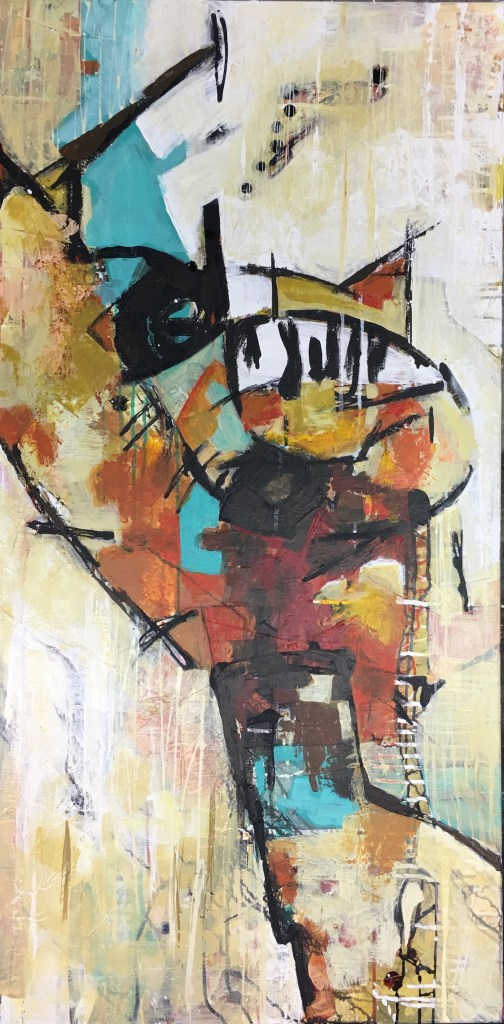 Title Untitled 15 Medium Mixed media on canvas Size 48in x 24in