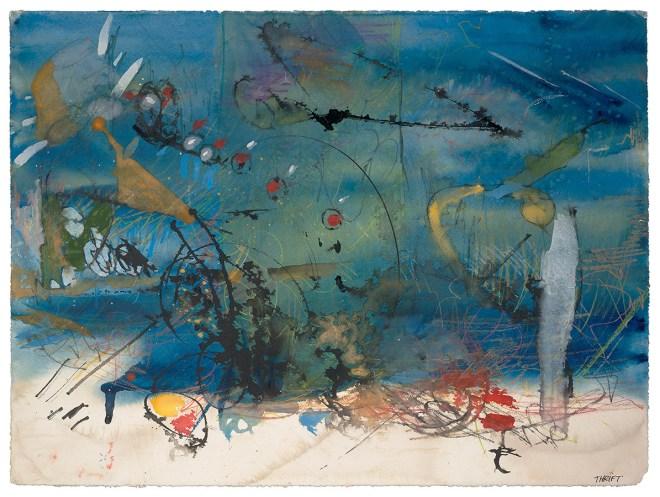 Title Divine Intermission Medium Watercolor Size 22×30