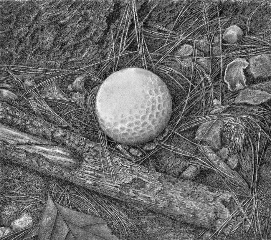 "Where It Lies Medium Graphite on Paper Size 10"" x 10"""