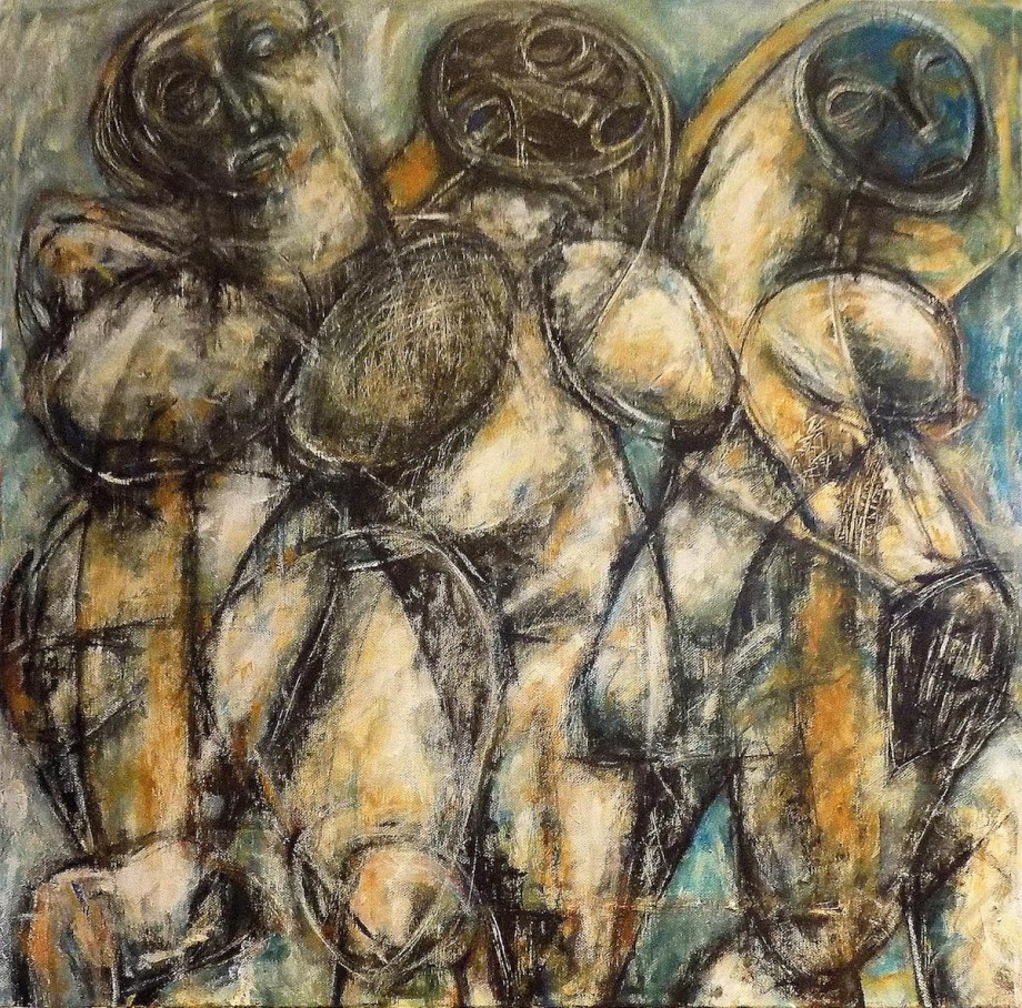 Venus in Three Medium Acrylic on canvas Size 60x60cm