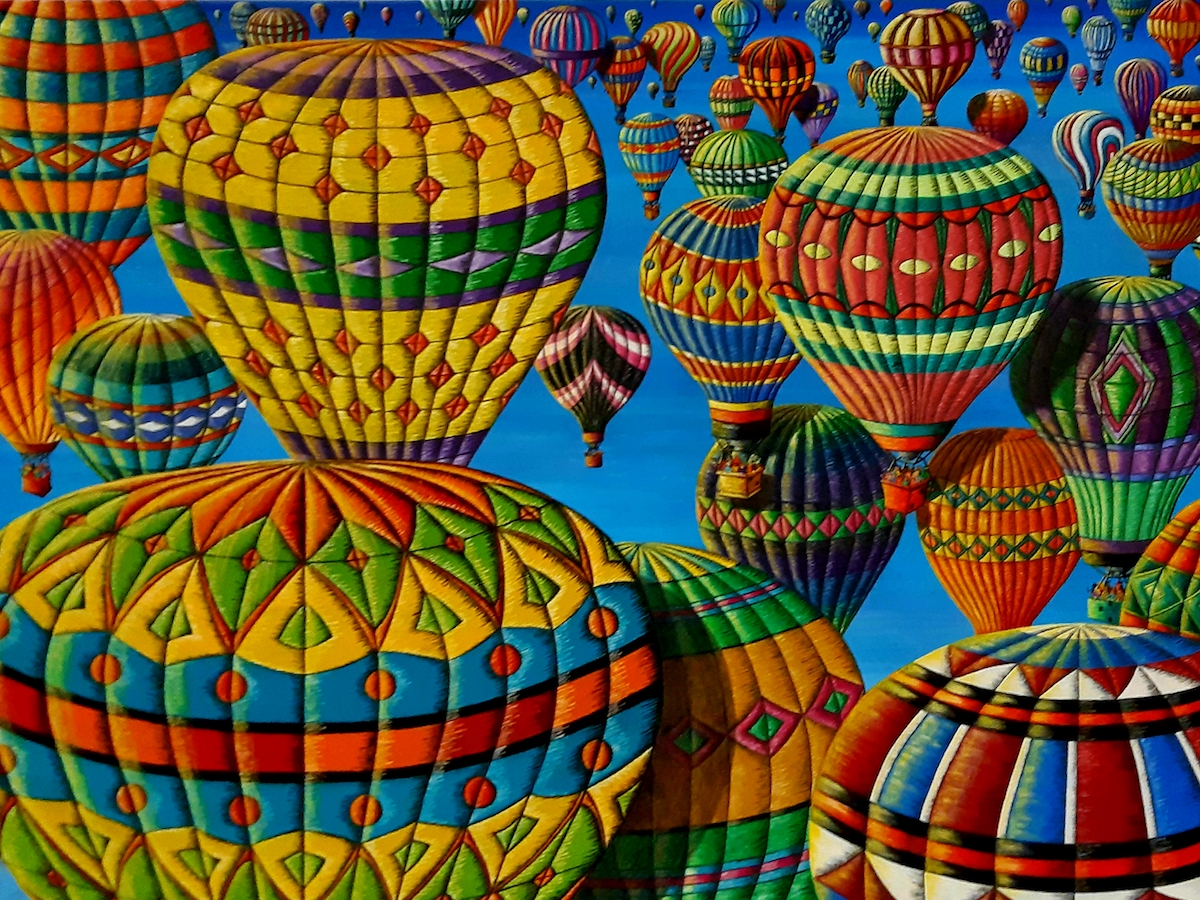 """Flying Colours Medium Oil on Canvas Size 36""""H x 48""""W"""