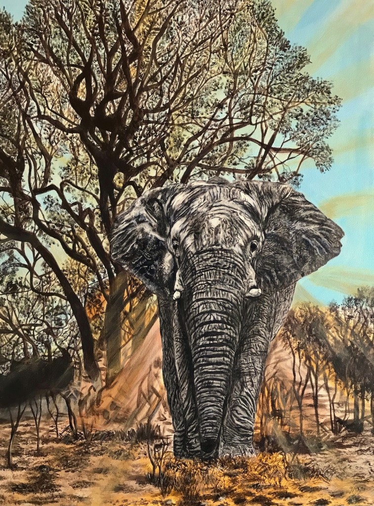 "Strength And Beauty Medium Acrylic on Canvas Size 18x24"" (WxH)"