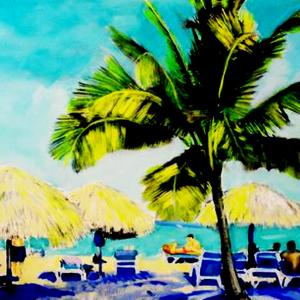 Las Palapas Medium Oil Size 40x26