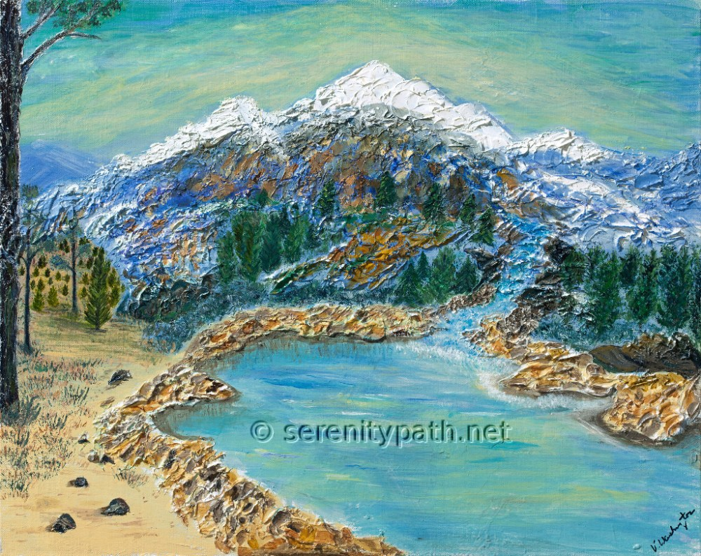 Purple Mountain Majesty Medium Acrylic Size 16x20