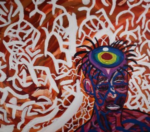 "untitled I Medium oil, acrylic on canvas Size 30"" x 24"""