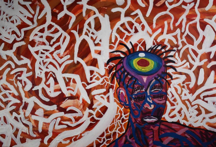 "untitled I Medium oil, acrylic on canvas Size 30"" x 24"""
