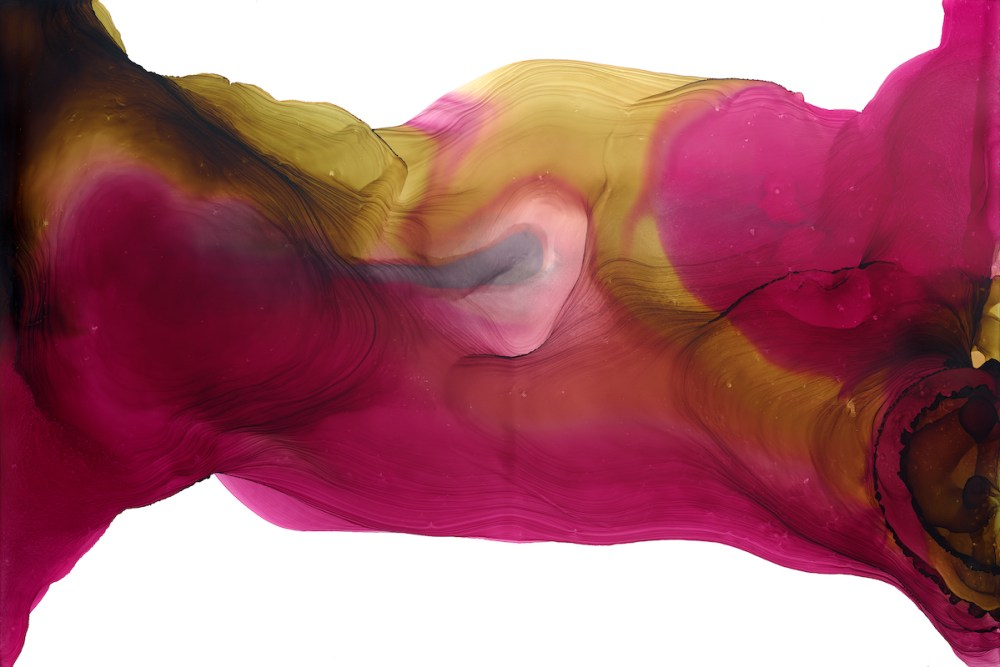 There is Strength Medium Pigmented Alcohol Inks on Yupo Size 3ft x 2ft