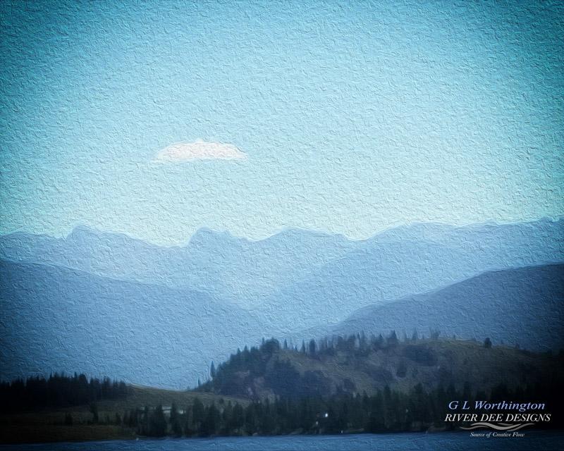 Cloud Over Sleeping Mountain Medium Digital Photography Size 800 x 640 and 213 KB