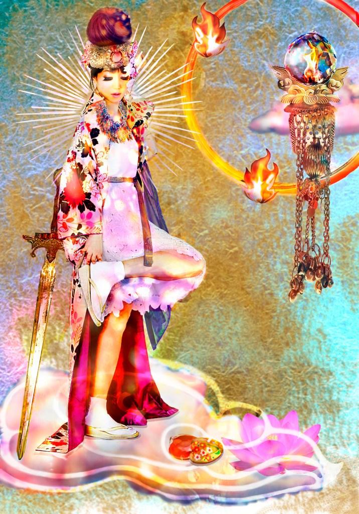 Livelihood of Bodhisattva Medium Mixed Media Size 33×24cm