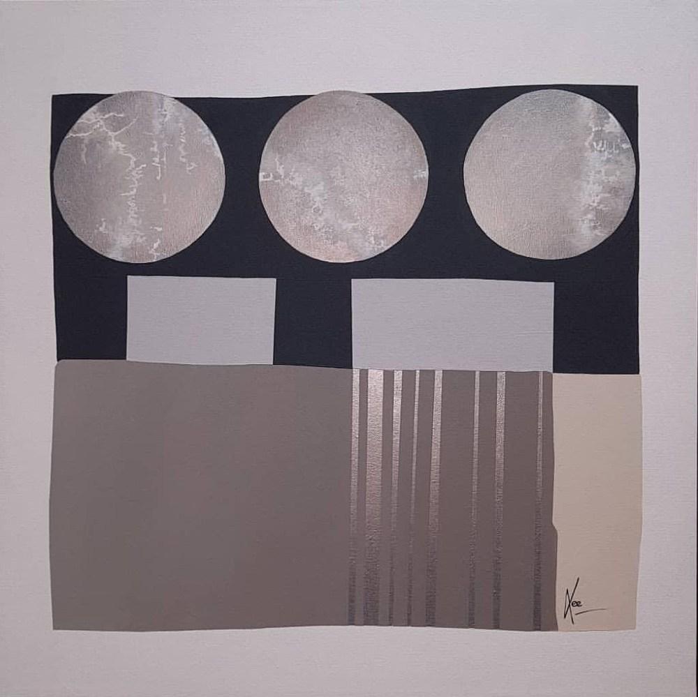 COSMOS 3.o Medium acrylic on canvas Size 36 x 36