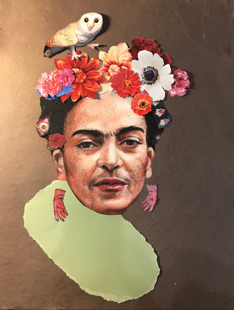 Frida Medium mix media Size 16x22''
