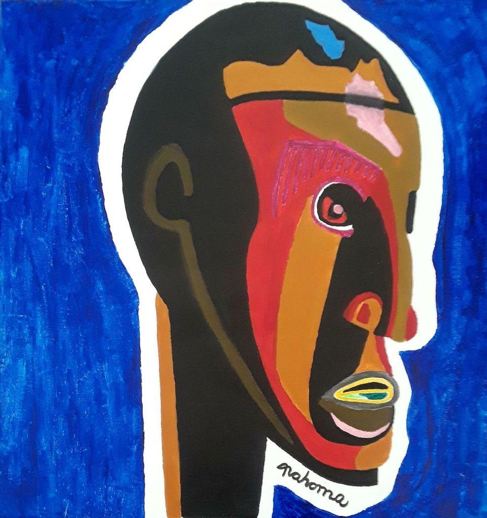 Colorful Face Medium Acrylic on Canvas Size 20x20