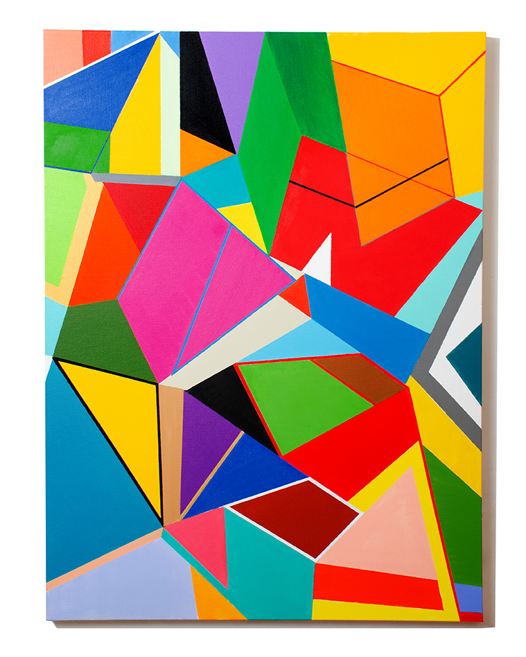 Shapes and Colors #3 Medium Acrylic on Canvas Size 40 x 30 x 1.5